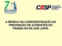 A Música na Conscientização de Prevenção de Acidentes do