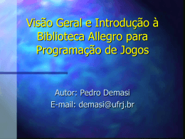Biblioteca Allegro em Power Point