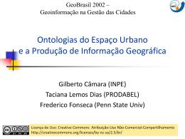 Ontologias Urbanas e a Produção de Informação Geográfica