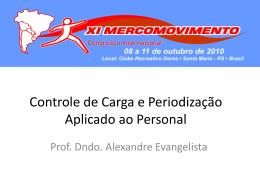 Controle de Carga - Prof. Alexandre Evangelista