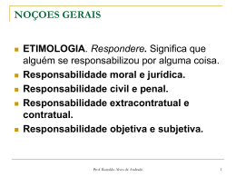 dano moral. - Prof. Dr. Ronaldo Alves de Andrade