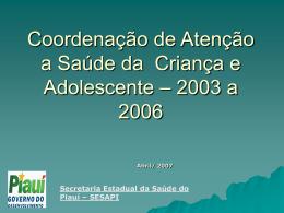 Coordenação - 2003 a 20096