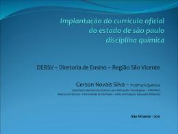 Implantação do Currículo Oficial do Estado de São Paulo
