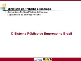 Panorama e perspectivas do Sistema Público de Emprego no Brasil