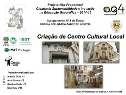 ESAG_11H2_Criação de Centro Cultural Jovem no Centro Histórico
