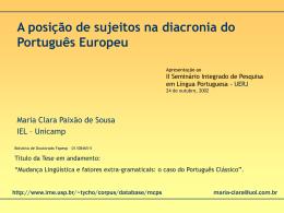 UERJ - outubro, 2002 (PPT - Projeto Tycho Brahe