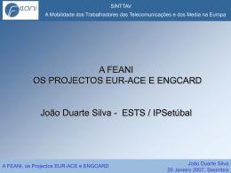A FEANI Os Projectos EUR-ACE E ENGCARD