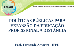 Fernando Amorim - Instituto Federal do Paraná