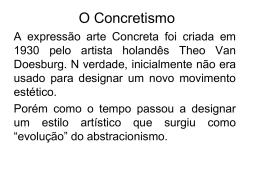 Aula - Concretismo