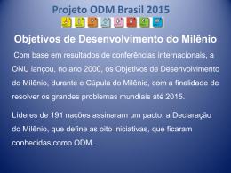 Projeto ODM 2015 - Encontro Nacional com Novos Prefeitos