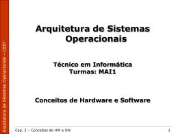 Arquitetura de Sistemas Operacionais Técnico em