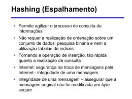 EDA Aula 7 – Hashing