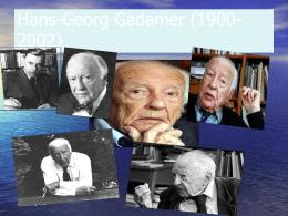 Vida e obra de Hans-Georg Gadamer (1900