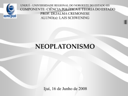 Neoplatonismo - Capital Social Sul