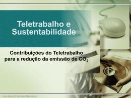 Teletrabalho e Sustentabilidade