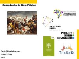 Slide 1 - Coprodução de Bens e Serviços Públicos