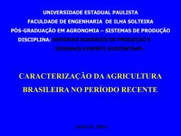 Aula 2 Agricultura período recente