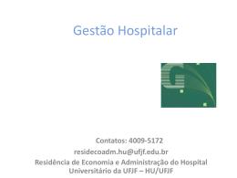 Gestão Hospitalar por Agnaldo - Universidade Federal de Juiz de Fora