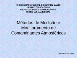 Métodos de Medição e Monitoramento de Contaminantes