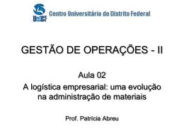 Operações II - Professor Francisco Paulo
