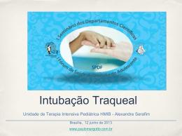 Intubação Traqueal - Paulo Roberto Margotto