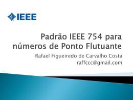 Padrão IEEE 754 para números de Ponto Flutuante
