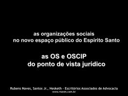 AS OS E OSCIP SOB O PONTO DE VISTA JURÍDICO - Dr