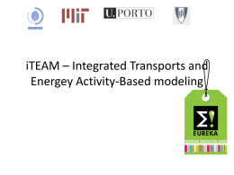 iTEAM – Integrated Transports and Energey Activity