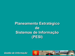 Gestão de Informação Gestão do Processo de Planeamento