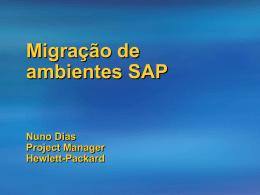 Migração sistemas SAP