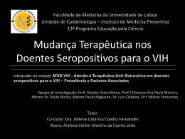 Mudança Terapêutica nos Doentes - estudo ATAR-VIH