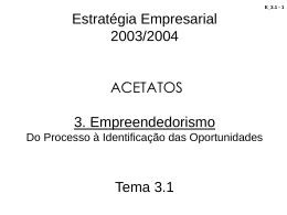 tema_3_1 - Estratégia Empresarial - Gestão