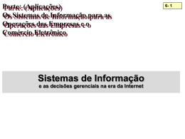 Os Sistemas de Informação para as Operações das Empresas e o