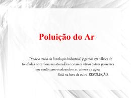 SEMINÁRIO - POLUIÇÃO DO AR