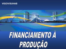 vigov/suhab financiamento à produção - Sinduscon-SP