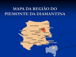 MAPA DA REGIÃO DO PIEMONTE DA DIAMANTINA