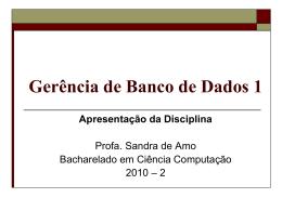 Diapositive 1 - Sandra de Amo