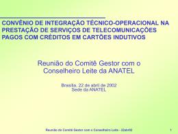 Apresentação feita pelo Coordenador Ricardo Mesquita