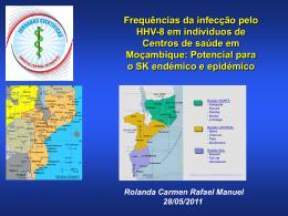 Frequências da infecção pelo HHV-8 em individuos de Centros de