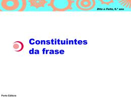 Constituintes da frase - Língua Portuguesa