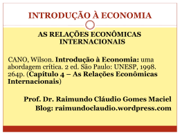 Slides_IntEcon_Cap4-Cano - Raimundo Cláudio