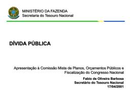dívida pública - Tesouro Nacional