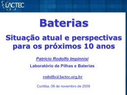 Baterias Situação atual e perspectivas para os próximos 10