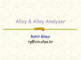 Tutorial: Alloy