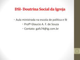 DSI- Doutrina Social da Igreja