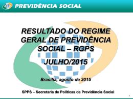 Resultado do RGPS - Ministério da Previdência Social