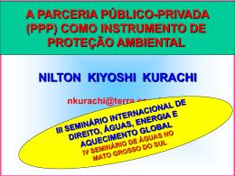 Nilton Kiyoshi Kurashi Parcerias Público-Privadas