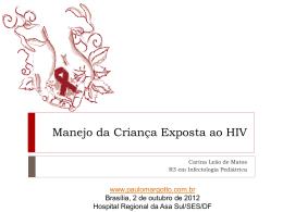 Manejo da Criança Exposta ao HIV