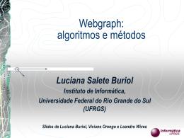 Webgraph: algoritmos e métodos