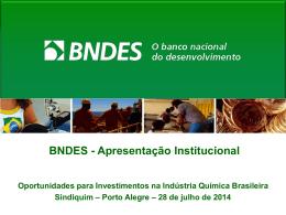 BNDES - Apresentação Institucional